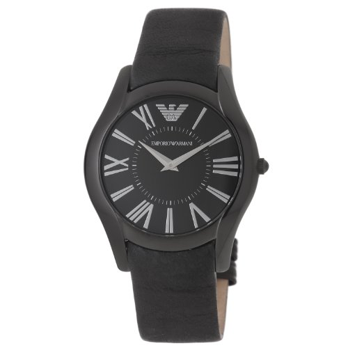 Emporio Armani AR2059 - Reloj para hombres, correa de cuero color negro