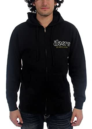 The Doors - Hommes de Venise chandail à capuchon Zip In Black, Small, Black