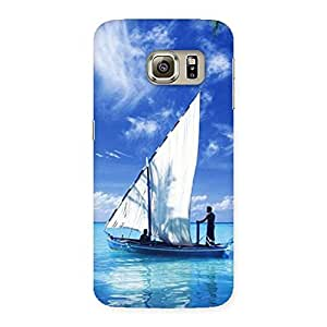 Stylish Boat Guy Back Case Cover for Samsung Galaxy S6 Edge