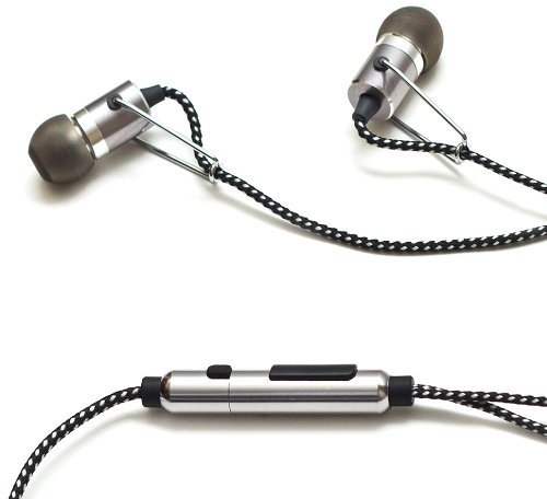 385 Audio P-Clip In-Ear Earbuds With Microphone (Gun Metal)