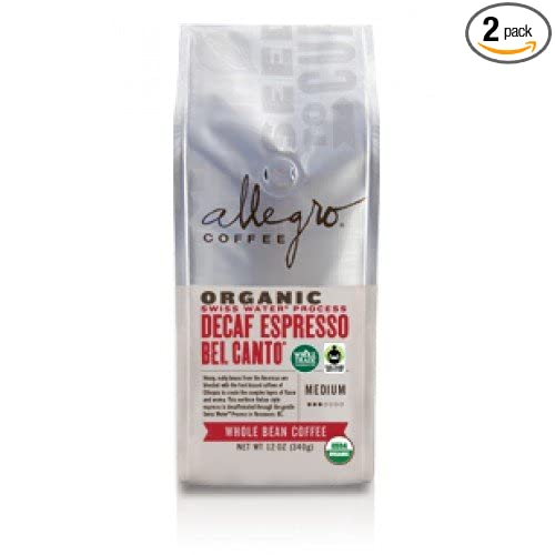 Allegro Whole Bean Coffee, 2, Decaf Organic Espresso Bel Canto