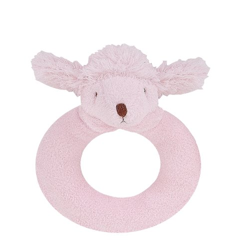Angel Dear Ring Rattle, Pink Poodle