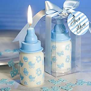 blue bottle candles baby shower favors 24 health