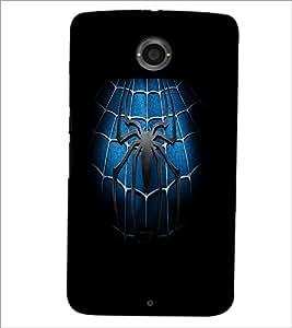 PrintDhaba Spider D-2141 Back Case Cover for MOTOROLA GOOGLE NEXUS 6 (Multi-Coloured)