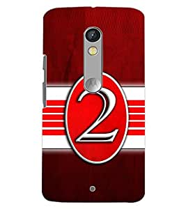 PrintDhaba NUMBER TWO D-6639 Back Case Cover for MOTOROLA MOTO X PLAY (Multi-Coloured)
