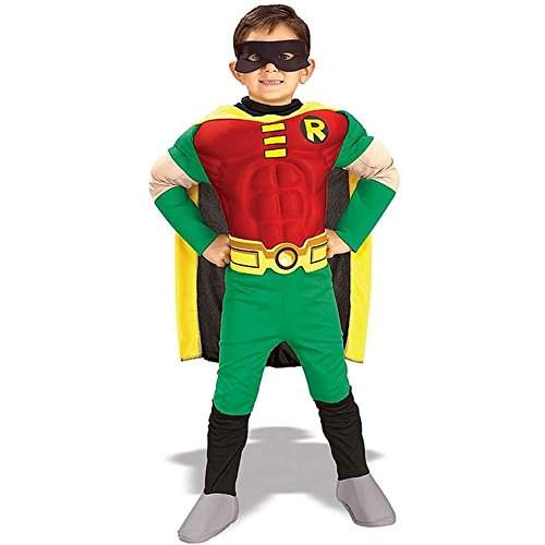 Robin Muscle Chest Deluxe Kids Costume