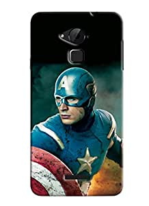 Clarks Captain America Hard Plastic Printed Back Cover Case For Coolpad Note 3
