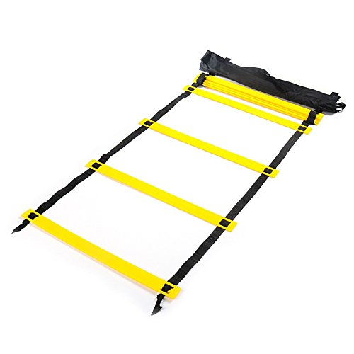 Homeself Agility Ladder Speed Ladder for Football Speed Training, Hopping,Running Fitness Feet Training to Increase Speed, Coordination and Sense of Balance (8-Rung)