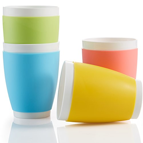 14oz Large Plastic Cups, Plastic Kid Cups, Plastic Drinking Cups, BPA-Free, Microwaveable. (Plastic Cups Microwave Safe compare prices)