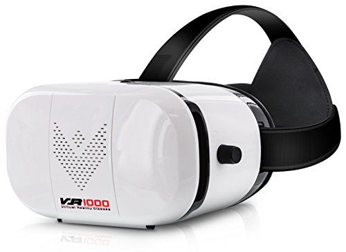 Aduro® VR 1000 3D Virtual Reality Glasses Headset, Suitable for 4.7-6.0 in Smartphones for Movies / Games / Viewing w/ 360 ° Panoramic Viewing Angle