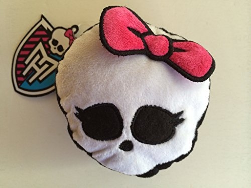 Monster High Girl's Plush Bag Backpack Luggage Clip Skullette Zippered Coin Key Makeup Pouch Case