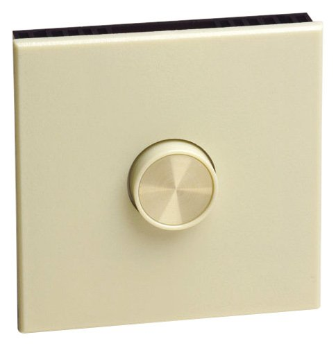 Leviton 61027-I 10-Amp, Single-Pole, Van Gogh Full Range Electro-Mechanical, Fan Speed Control, Wide Fin, Ivory front-587845