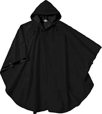 Pacific Poncho, Unisex (Black) needs to say Size-Adult One Size