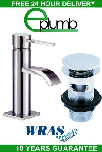 Deca Round Square Mini Cloakroom Basin Mixer Low Pressure Tap Click Clack Waste