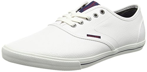 JACK & JONES JFWSPIDER PU SNEAKER, Herren Sneakers, Weiß (Bright White), 42 EU