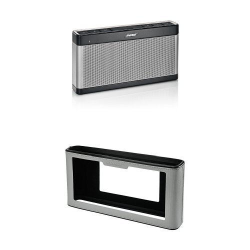 Bose SoundLink Bluetooth Speaker III and Cover (Gray) Bundle bose soundlink bluetooth speaker iii