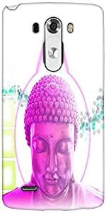 Snoogg Buddha Telepathy Designer Protective Back Case Cover For LG G3