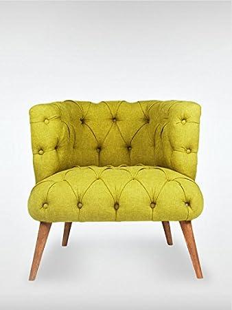 Designer Retro Sessel Polstersessel PALO ALTO 75 x 76 x 80 cm Loungesessel pistazien-grun
