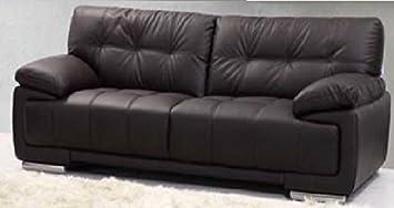 3-Sitzer-Sofa in braun