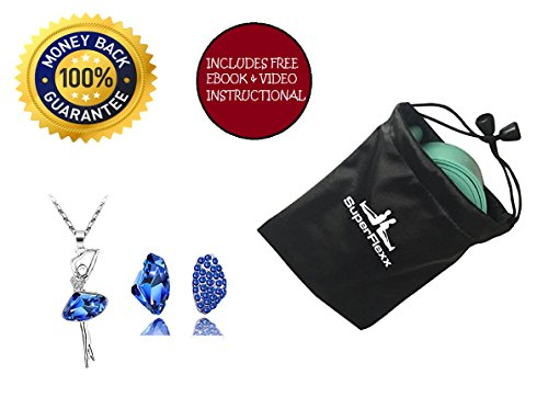 Ballet Stretch Band by Superflexx with FREE Nylon Bag for Dancing, Rhythmic Gymnastics, Workout, Exercise and Physical Therapy, Firm Resistance Elastic Rubber Bands, Get Your Dance Flex On Now (Green) (Green Pointe Shoes compare prices)