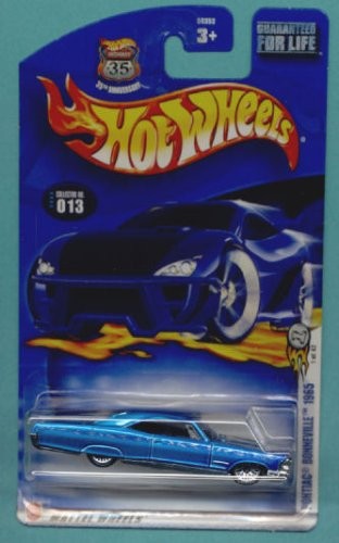 Mattel Hot Wheels 2003 1:64 Scale Blue 1965 Pontiac Bonneville Die Cast Car #013 - 1