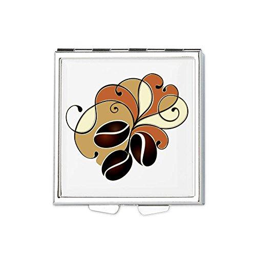 Square Pill Box Coffee Bean Floral