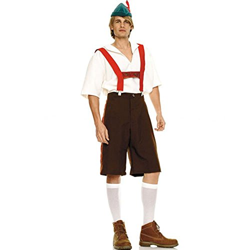 German Lederhosen Costume X-Large Mens Bavarian Costume 83240