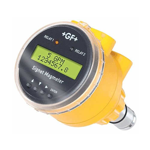 GF Signet 3-2551-T2-22 The 2551 Magmeter Flow Sensor, PVDF Body, Titanium Electrodes, Display, 4 mA-20 mA and 2 Dry-Contact Relays Output, 10