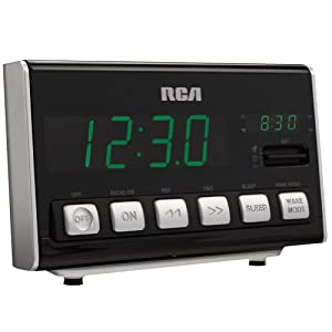 rca rc10 am fm alarm clock radio black electronics. Black Bedroom Furniture Sets. Home Design Ideas