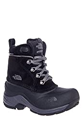 The North Face Boys\' Chilkats Lace Boots - black/zinc gray, 13 youth