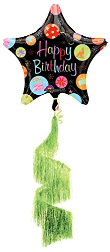 Anagram International Happy Birthday Bursts Shag Coil Tail Air Walker, Multicolor - 1