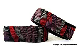 "Acupressure Motion Sickness Bracelets for Nausea (Kelim) Average/adult size 8"""