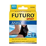 Futuro Sport Reversible and Adjustable Black Neoprene Ankle Support - 17.8 cm - 29.9 cm