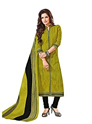 Taos Brand cotton dress materials for women womens dress materials cotton salwar suit New Arrival latest 2016 womens party wear Unstitched dress materials for women (1427 summer__green and _freesize