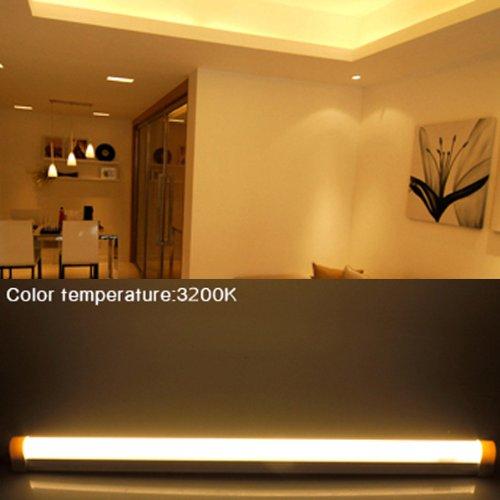 Thg Warm White 9W 48 Smd Led T5 Tube Light Fixture Energy Saving Kitchen Under Cabinet Closet Lamp Bar
