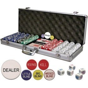 Da Vinci Premium Set of 500 11.5 Gram Card Suited Poker Chips with 6 Dealer Buttons, Cards, & Dice