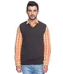 Raymond Men's Woolen Sweater (8907252536214_RMWY00449-G8_40_Grey)