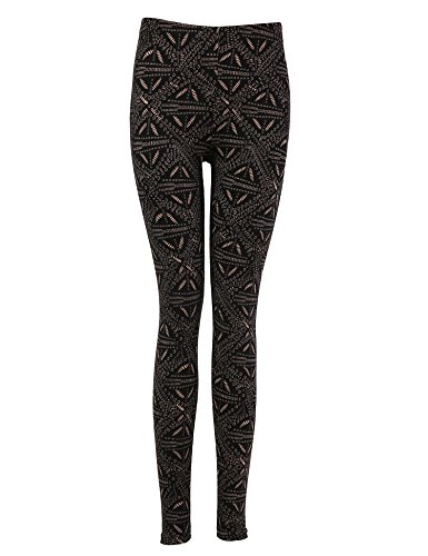 Bentibo Women's Fashion Floral Printed Spandex Leggings Skinny Pants Black XL Review | Shopswell