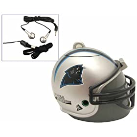 Its a Radio Inside a Miniature Carolina Panthers Football Helmet.