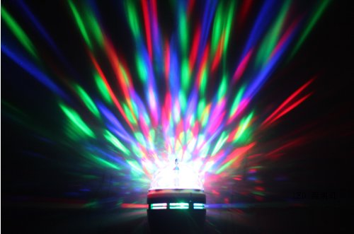 Toplimit Colourful Bulb Rgb Crystal Ball Effect Light E27 Led Rotating Stage Lighting For Disco Dj Party