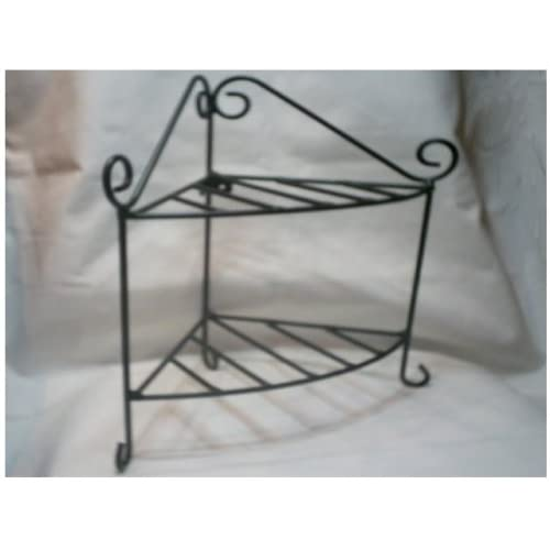 tuscan wrought iron metal corner wall shelves set of 3. Black Bedroom Furniture Sets. Home Design Ideas