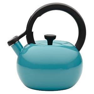 Circulon Teakettles Circles Whistling Kettle, 2-Quart, Capri Turquoise by Circulon