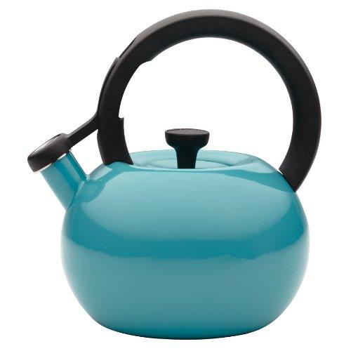 Circulon 2-Quart Circles Teakettle, Capri Turquoise (Whistling Tea Kettle Turquoise compare prices)