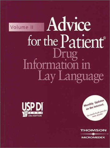 usp-di-2003-volume-ii-advice-for-the-patient-drug-information-in-lay-language-book-with-passcode-usp