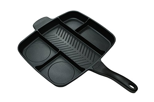 Master Pan Non-Stick Divided Grill/Fry/Oven Meal Skillet, 15