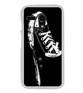 Canvass Shoe 2D Hard Polycarbonate Designer Back Case Cover for Motorola Moto G :: Motorola Moto G (1St Gen)