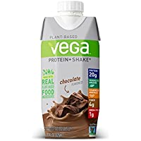 Vega Protein+ Ready to Drink Plant-Based Protein Shake 11 oz 12 Count (Chocolate)