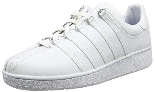 K-Swiss - Classic Vn M, Sneaker basse Uomo, Bianco (Bianco (White/White)), 8 UK