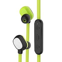 ROCK Mumo Sports Bluetooth In-ear Earphone Headset for iPhone Samsung Sony etc - Black Green