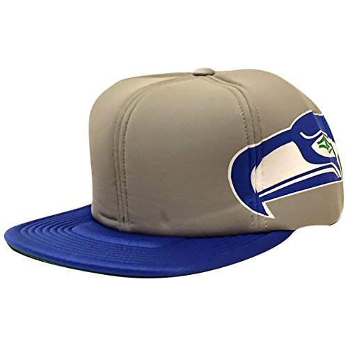 Seattle-Seahawks-NFL-Foam-Helmet-Snapback-Cap-Grey